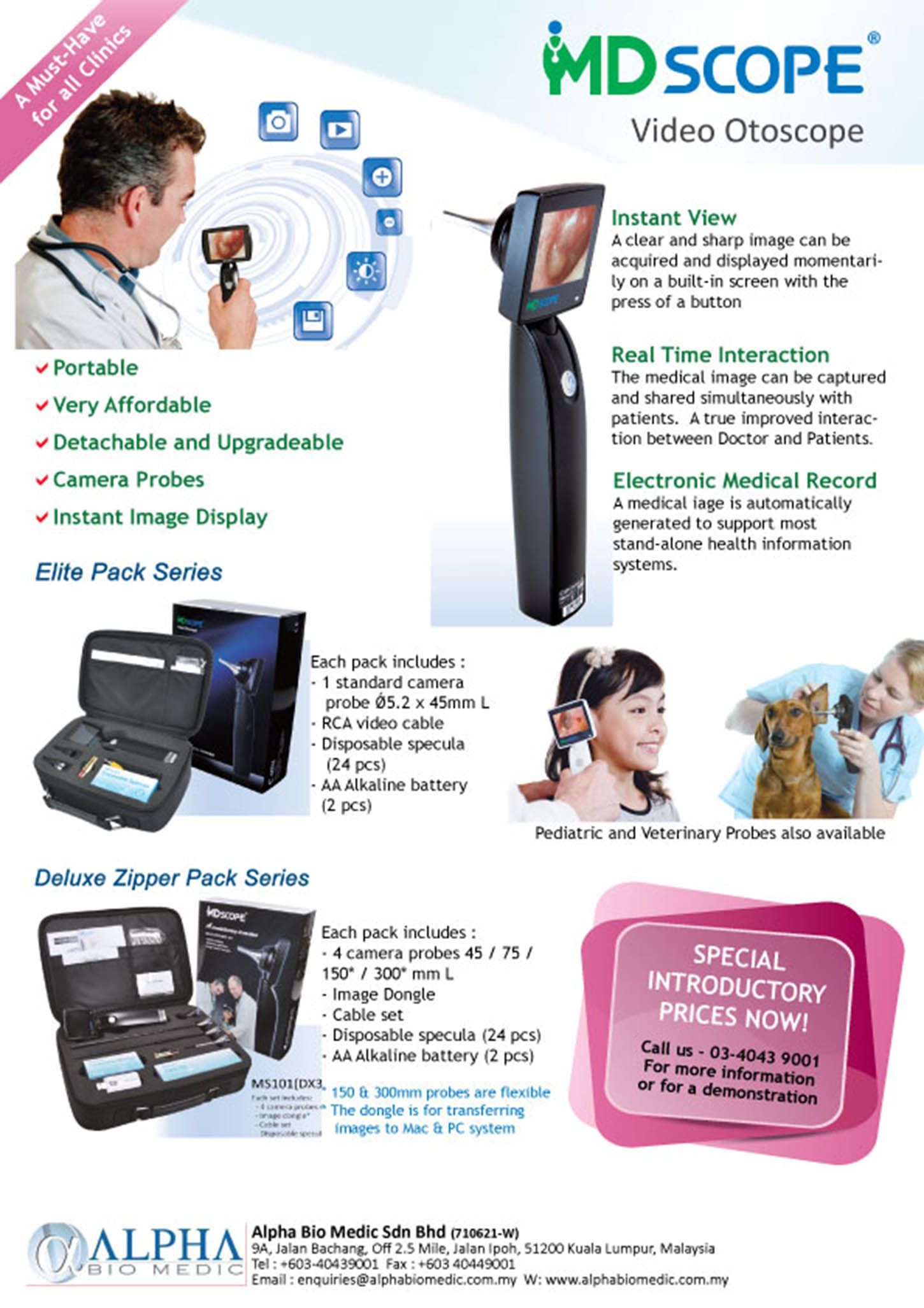 MD Scope Video Otoscope