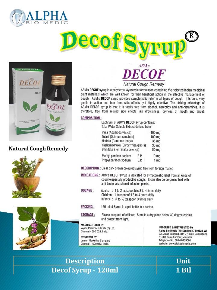 DECOF Cough Syrup