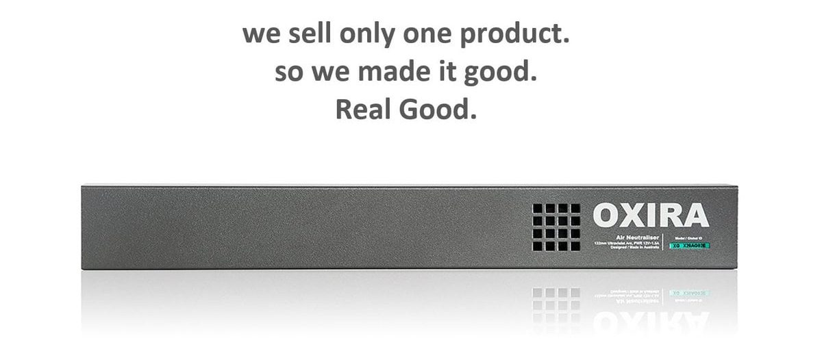 we sell only one product so we made it good - oxira